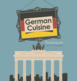 Banner restaurant germany cuisine with flag vector image