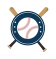 baseball crossed bats icons vector image vector image