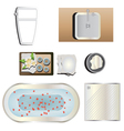 Bathroom set 4 top view for interior vector image vector image
