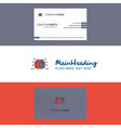beautiful brain logo and business card vertical vector image