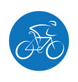 bicycle round logo design vector image
