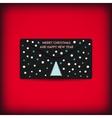Black stylish christmas and new year envelope vector image