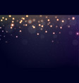 bokeh and light background vector image