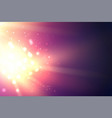 bright fire sparks over deep ultraviolet space vector image