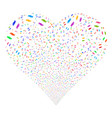 care hands fireworks heart vector image vector image