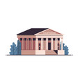 courthouse building exterior legal law advice vector image vector image