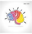 Creative brain shape abstract logo design vector image