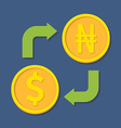 Currency exchange Dollar and Naira vector image vector image