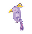 cute cockatoo animal cartoon doodle color on white vector image