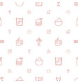drink icons pattern seamless white background vector image vector image