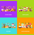 easter holiday greeting set vector image vector image