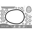 education paper game for children easter egg vector image vector image