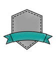 elegant badge shield with ribbon icon vector image vector image