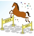 Festive horse jumping vector image