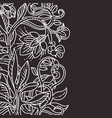 floral design template vector image vector image