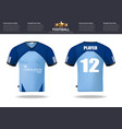 football t-shirts design template for vector image