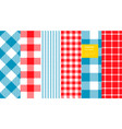 gingham plaid set vector image vector image