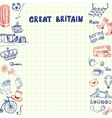 Great Britain Pen Drawn Doodles Collection vector image vector image