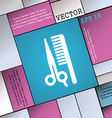 hair icon sign Modern flat style for your design vector image