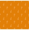 Halloween seamless pattern with crosses vector image vector image