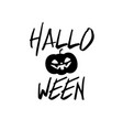 happy halloween party title logo template pumpkin vector image vector image