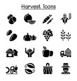 harvest icon set vector image vector image