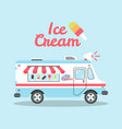 ice cream truck flat colorful vector image vector image