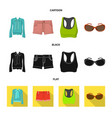 isolated object of woman and clothing icon vector image vector image