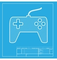 Joystick simple sign White section of icon on vector image vector image