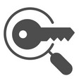 keyword search solid icon magnifying glass and vector image vector image