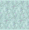 leaves and flowers pattern vector image vector image