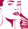 Make-up woman vector image vector image