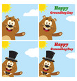 marmot cartoon character collection - 2 vector image vector image
