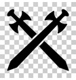 medieval swords icon vector image vector image