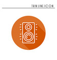 music column audio speakers icon stereo music vector image vector image