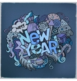 New year hand lettering and doodles elements vector image