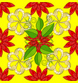 on yellow red and green colors abstract pattern vector image