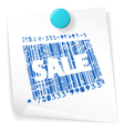 paper sale ticket vector image