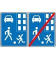 Pedestrian zone Symbol vector image vector image