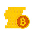 pile of bitcoin stacks graphic vector image