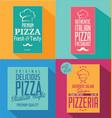 pizza banner flat retro design vector image vector image