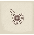 Pizzeria logo template