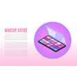 proffecional makeup for artists cosmetics and vector image vector image