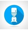 Purifier water blue round icon vector image
