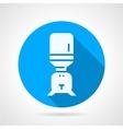 Purifier water blue round icon