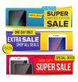 sale banner collection mobile phone vector image