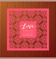 save the date card laser cutting pattern vector image vector image