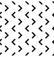 Seamless monochrome geometric pattern vector image