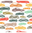 seamless vintage racing cars pattern vector image