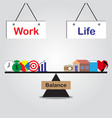 seesaw of work life balance vector image vector image